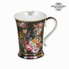 Tazza porcellana bloom black - Kitchen's Deco Collezione by Bravissima Kitchen