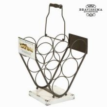 Portabottiglie triangolare - Art & Metal Collezione by Bravissima Kitchen