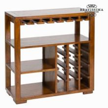 Porta bottiglie con ripiani legno - Serious Line Collezione by Bravissima Kitchen