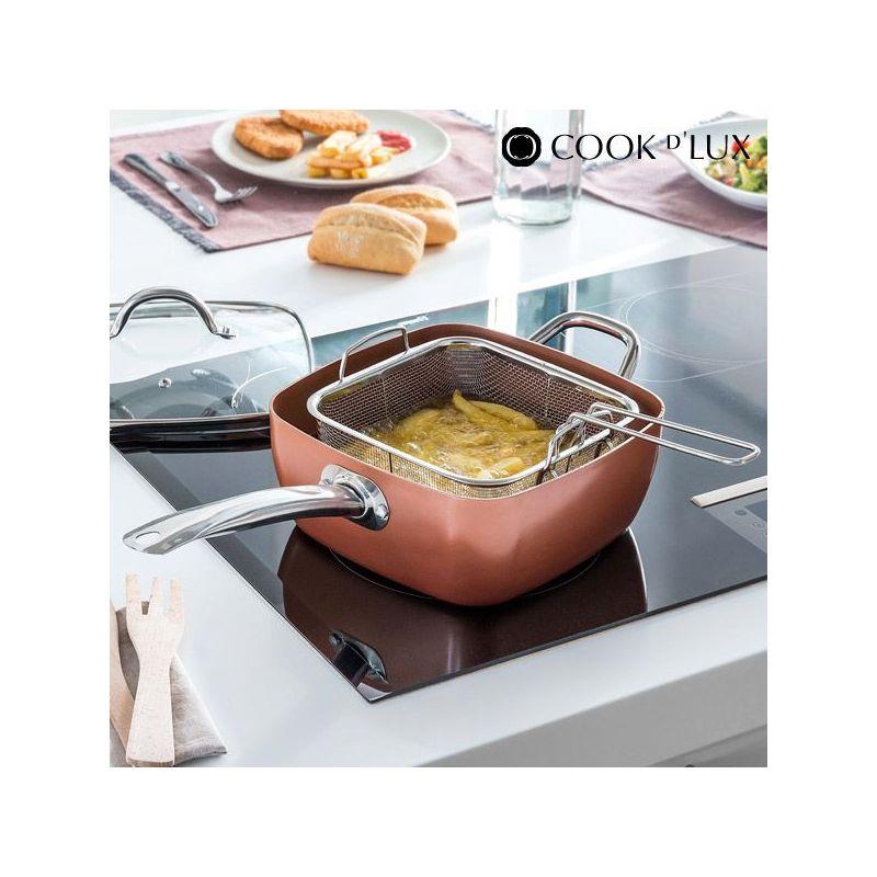 padella per friggere con coperchio in vetro Multicook da 20 cm