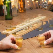 Bicchieri da Shot con Supporto in Legno Bravissima Kitchen (11 pezzi)