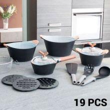 Batteria da Cucina Black Premium 3502 (19 pezzi)