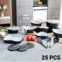 Padelle e Batteria da Cucina Black Premium 10143502 (25 pezzi)