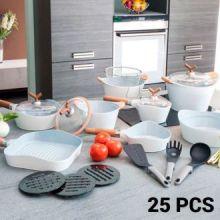 Padelle e Batteria da Cucina White Premium 10143502 (25 pezzi)