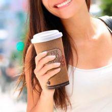 Bicchiere Termico in Sughero Riciclato con Coperchio Coffee To Go