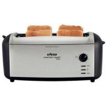 Tostapane UFESA TT7970 Master Toast 1500W Nero Argentato Inox