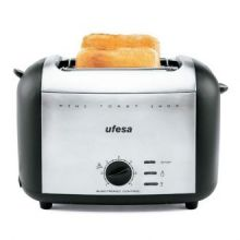 Tostapane UFESA TT7980 Mini Toast 950W Nero Argentato Inox