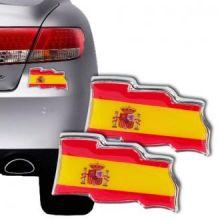 Adesivi per Auto Bandiera Spagnola (pacco da 2)