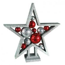 Stella di Natale Glitter con Palline