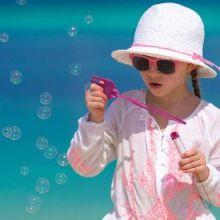 Gioco da Spiaggia con Bolle di Sapone