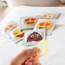 Preservativi con Emoticons (confezione da 6)