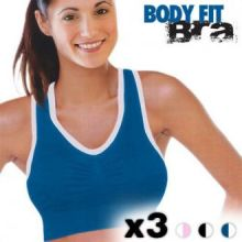 Body Fit Bra Sports Reggiseni (3 Pezzi)
